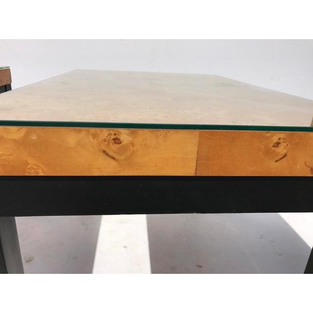 Milo Baughman Burl Wood Side/ End Tables - A Pair - Image 5 of 10
