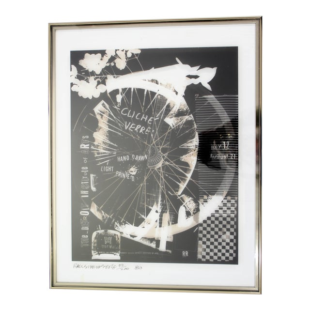 1980 Robert Rauschenberg Signed Photolithograph For Sale