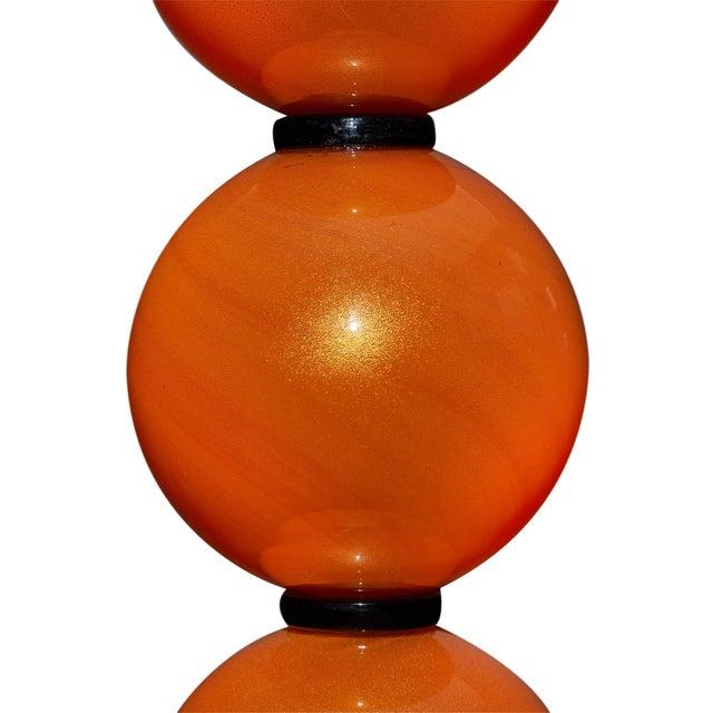 Orange Murano Glass Lamps For Sale In Austin - Image 6 of 10