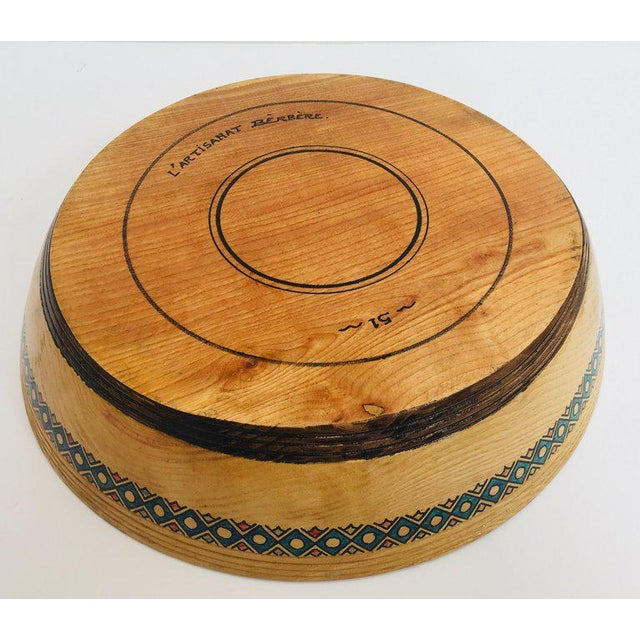 African Massive Large Round African Primitive Hand Hewn Wood Dough Bowl For Sale - Image 3 of 13