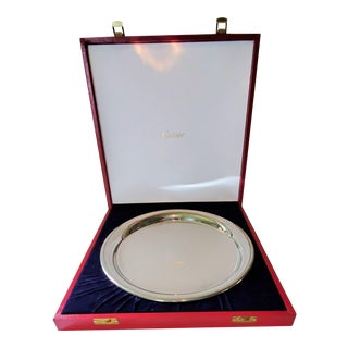 Cartier Solid Pewter Mirror Finish Wedding, Tea, or Bar Tray For Sale