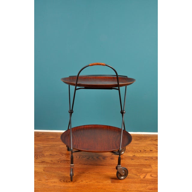 Collapsible Bar Cart, Sweden 1950s For Sale - Image 4 of 11