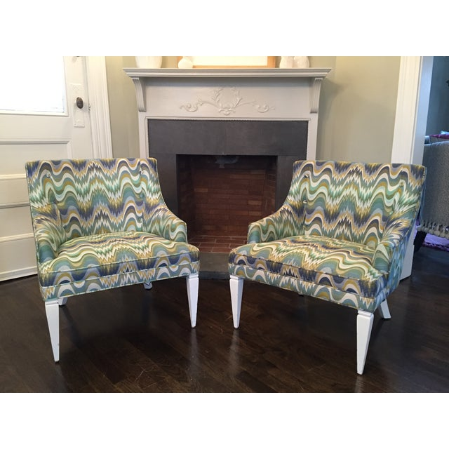 Jonathan Adler Haines Chairs - A Pair - Image 2 of 11