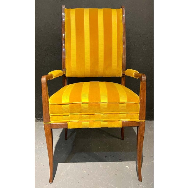 1960s Mid-Century Modern Six Tommi Parzinger Dining Chairs, Originals For Sale - Image 5 of 13
