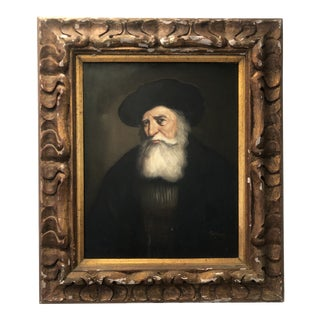 Pellum, Portrain of a Man (After Rembrandt), Oil on Canvas For Sale