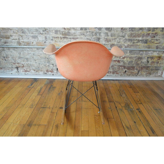 Charles and Ray Eames Charles & Ray Eames for Herman Miller Rar Zenith Rope Edge Rocking Chair For Sale - Image 4 of 11