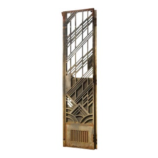 Art Deco Cast Iron Double Bifold Doors - a Pair