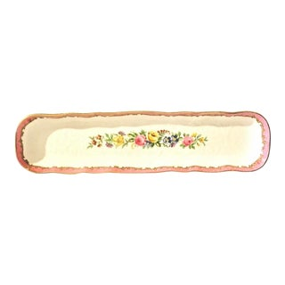 Staffordshire Pink Crown China Tray For Sale