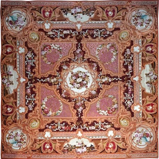 1851 Handwoven Antique Sallandrouze Aubusson Rug, Exceptional Condition & Signed For Sale