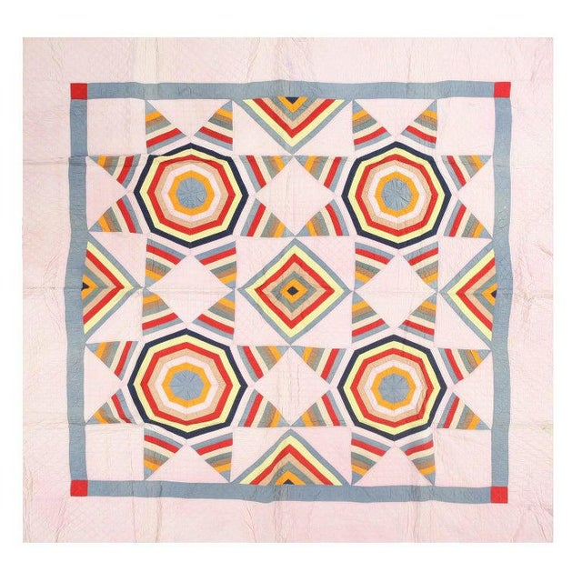 Antique American Quilt Blanket For Sale In New York - Image 6 of 6