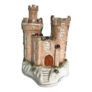 Staffordshire Cottage Castle Patille Burnets Spill Vase For Sale