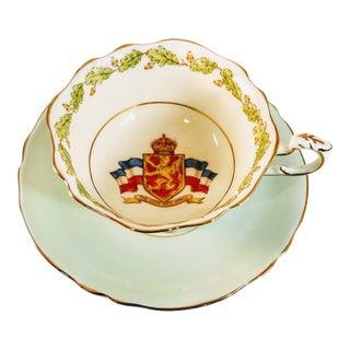 Vintage Paragon Patriotic Series Teacup & Saucer - a Pair For Sale