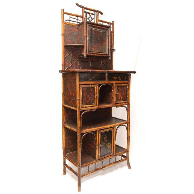 English 19th Century English Bamboo Cabinet For Sale In West Palm - Image 6 of 9