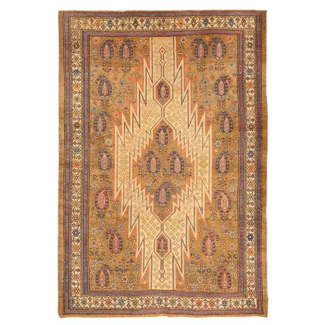 Antique 19th Century Hamadan Mazlagan Rug For Sale