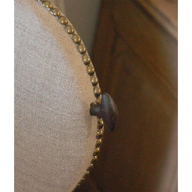 Linen Early 19th Century French Chair and Daybed Upholstered in Belgian Linen For Sale - Image 7 of 10
