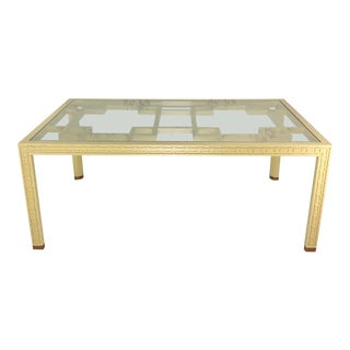 20th Century Hollywood Regency Style Fretwork Dining Table For Sale