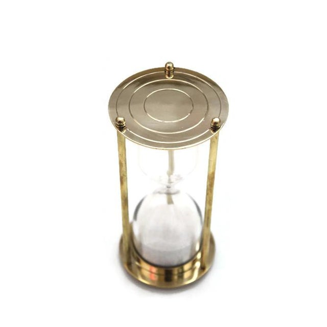 Brass Hourglass 5 Minute Sand Timer - Image 2 of 2