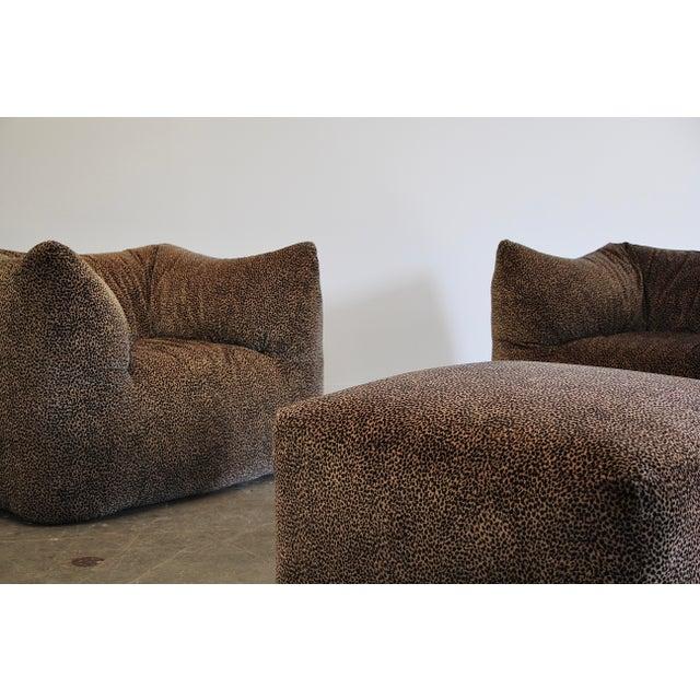 """1970s Mario Bellini """"Le Bambole"""" Chairs & Ottoman For Sale - Image 12 of 13"""