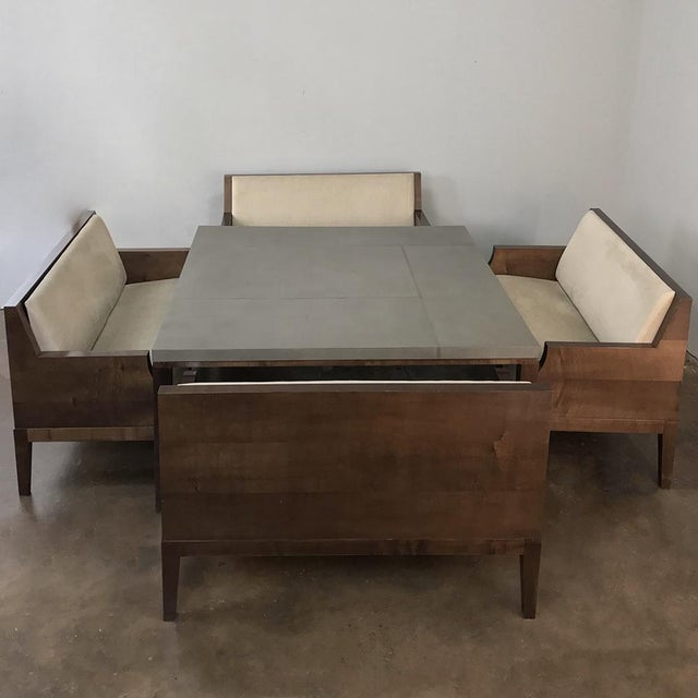 An Amazing Find! Designer Table & 4 Matching Benches by Christian Liaigre is a splendid example of the designer's work,...