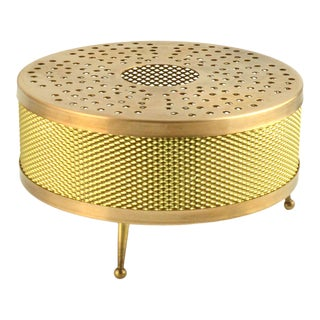 1970s Space Age Style Copper and Brass Tealight Heater, Germany For Sale