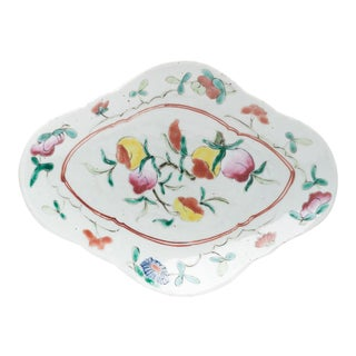 17th Century Chinese Ming Porcelain Peach Serving Plate For Sale
