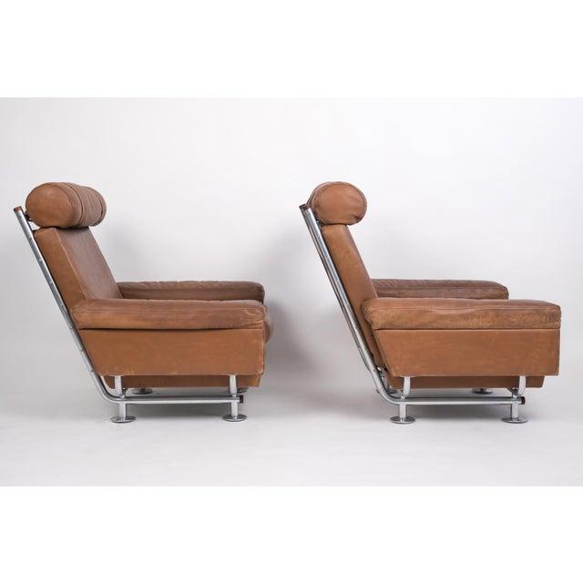 Danish Modern Pair of Illum Wikkelsø High-Backed Lounge Chairs for Ryesberg Møbler For Sale - Image 3 of 7