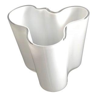 Clear & White Alvar Alto for Iitalla Savoy Vase