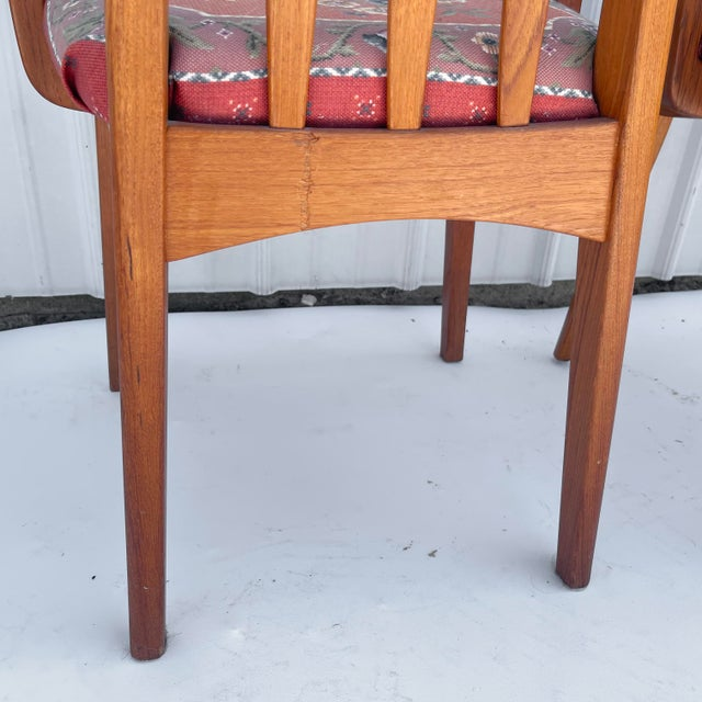 Late 20th Century Vintage Modern Teak Arm Chairs- a Pair For Sale - Image 5 of 13