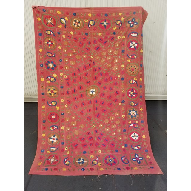 Vintage Turkish Bokara Suzani Blanket For Sale - Image 11 of 11