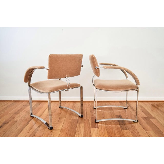 Vintage Giovanni Offredi for Saporiti Italia Dining Chairs - Set of 4 - Image 5 of 6
