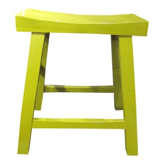 Lime Green Short Counter Stool For Sale