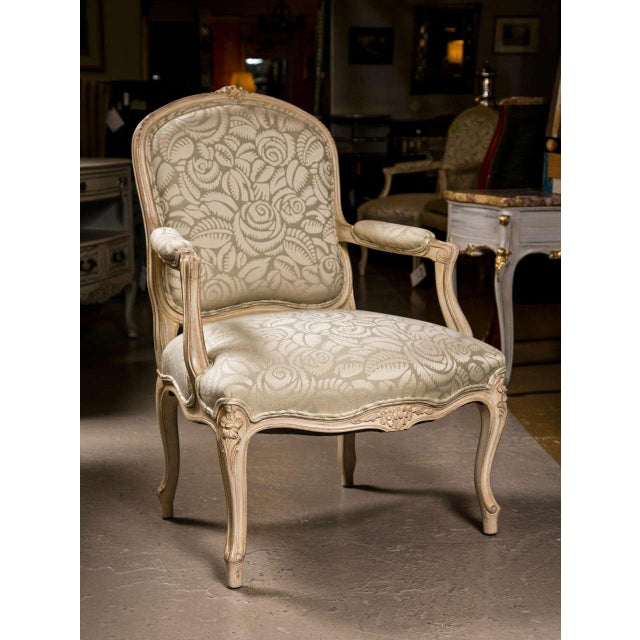 French Louis XV Style Armchairs - A Pair For Sale - Image 9 of 9