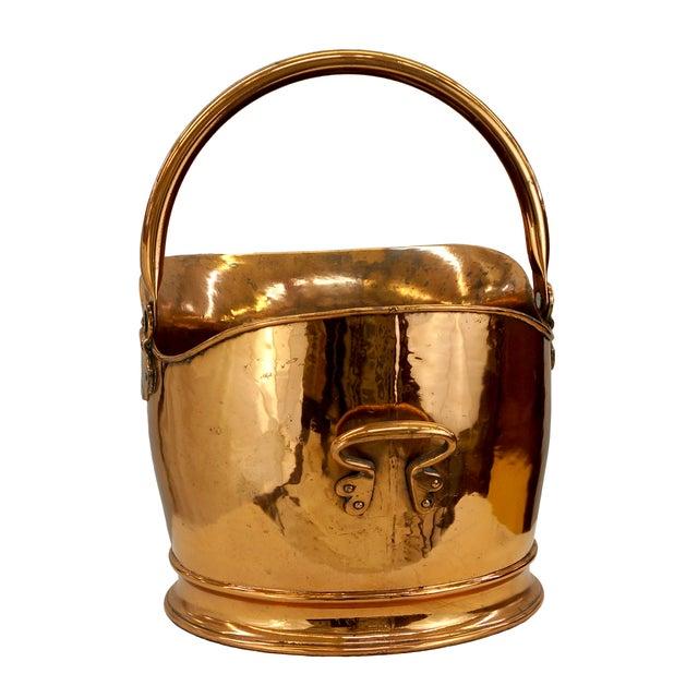 Victorian Copper Coal Scuttle Bucket - Image 3 of 5