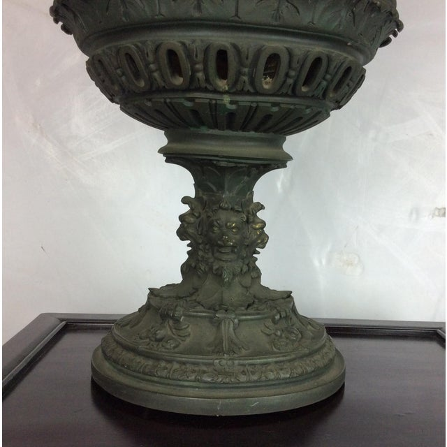 Antique French Carved Bronze Urn For Sale In Los Angeles - Image 6 of 10