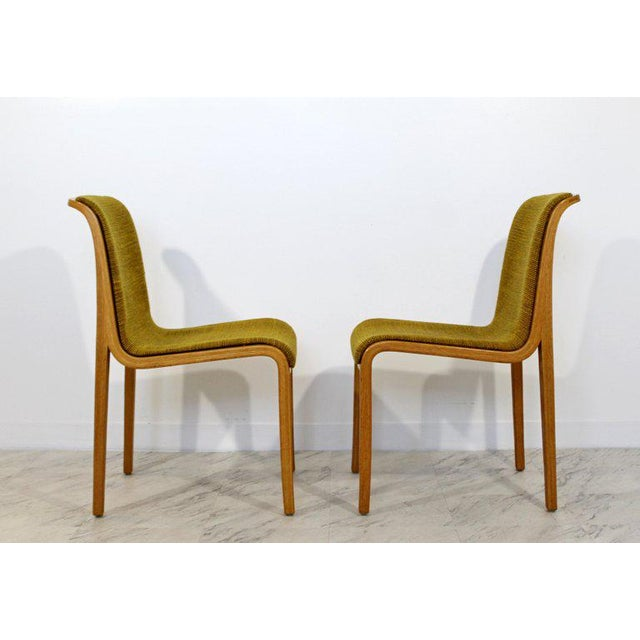 Knoll 1970s Mid-Century Modern Bill Stephens for Knoll Blonde Wood Side Chairs - Set of 4 For Sale - Image 4 of 10