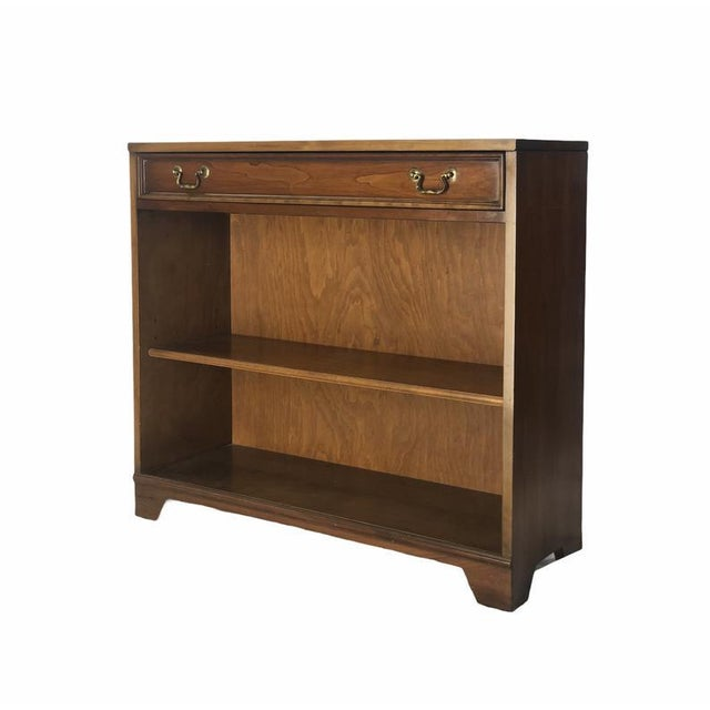 American Early 1900s Mahogany Bookcase with Brass Pulls For Sale - Image 3 of 3