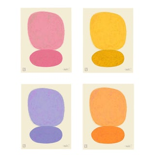 Sun Over Sun Set of 4 Different Colors, Giclee Print 8x10 For Sale