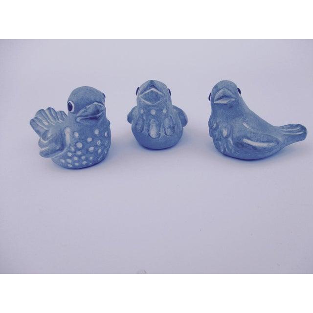 Blue Isabel Bloom Love Birds - Set of 3 For Sale - Image 8 of 11