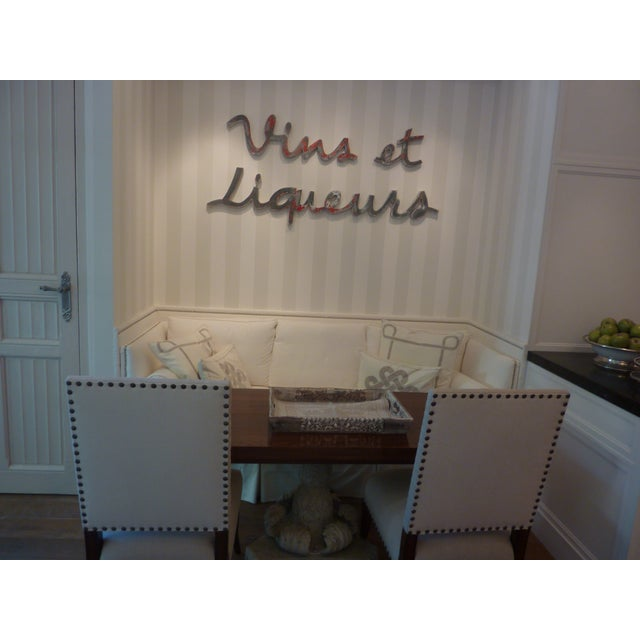 Vins Et Liqueurs French Advertising Type Letters For Sale - Image 9 of 11
