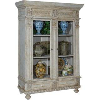 Vintage Italian Wood Carved Cabinet For Sale