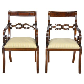 Philadelphia Empire Arm Chair - a Pair For Sale