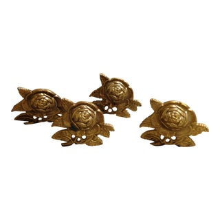 Brass Drapery Tie Backs - Set of 4