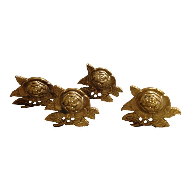Brass Drapery Tie Backs - Set of 4 - Image 1 of 6