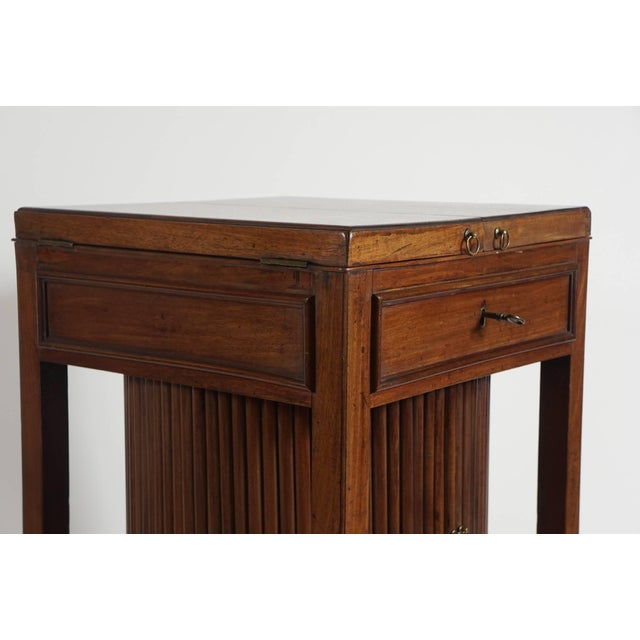 Brown Mahogany Tambour Stand, England, Circa 1790 For Sale - Image 8 of 11