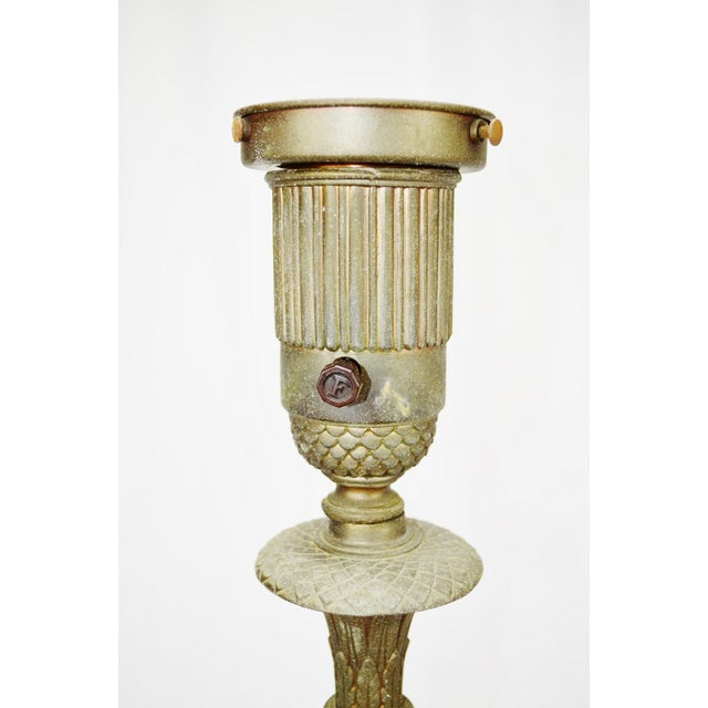 """The Miller Co. Torchiere floor lamp Porcelain fixture. Dimensions: 59""""H x 11"""" Diameter Base Upright tube is dinged -..."""