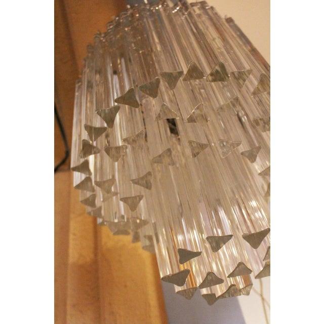 Glass 1960s Murano Venini Chandelier For Sale - Image 7 of 9