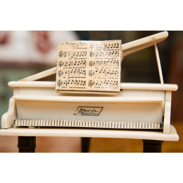 French Limited Edition Bakelite Miniature Piano Box For Sale In West Palm - Image 6 of 8