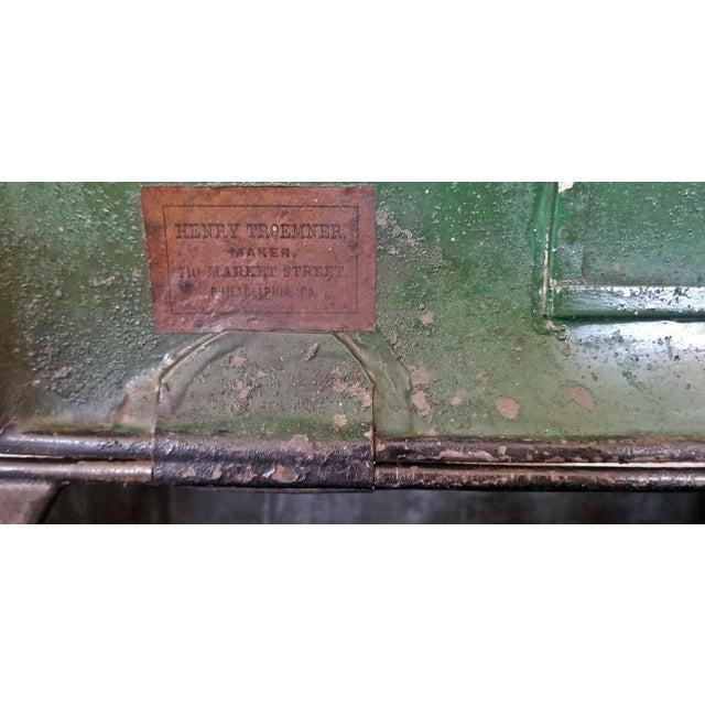 Pair of 19c American Henry Troemner Philadephia Pa Chinoiserie Tea Bins For Sale - Image 9 of 13