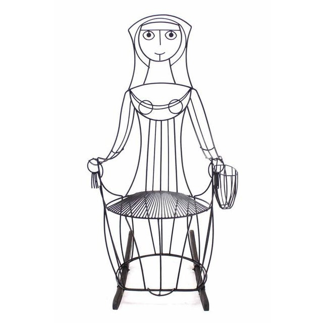 John Risley Welded Wire Rocking Chair For Sale - Image 9 of 10