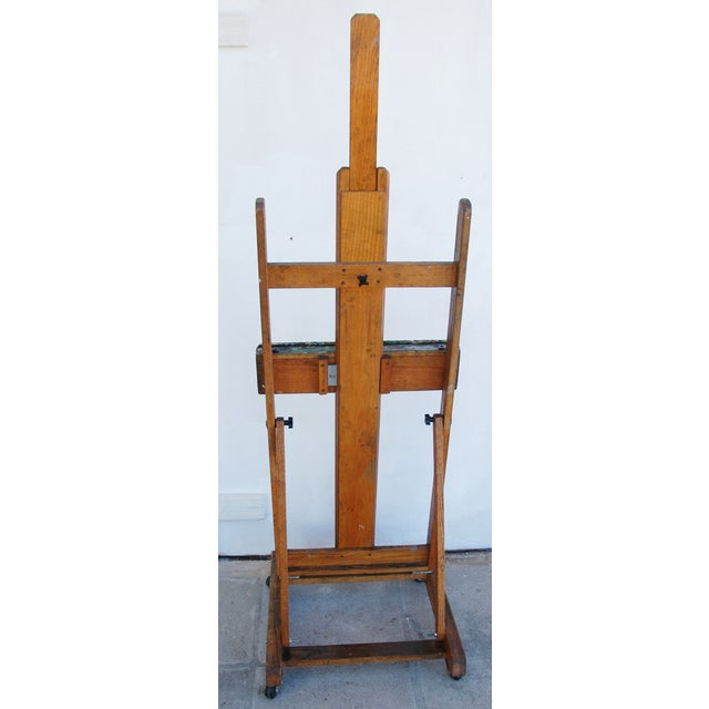 Vintage Adjustable Oak Artist's Easel - Image 9 of 11